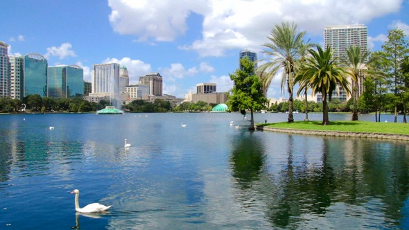 Lake Eola near new D.R. Horton Homes in Orlando, FL