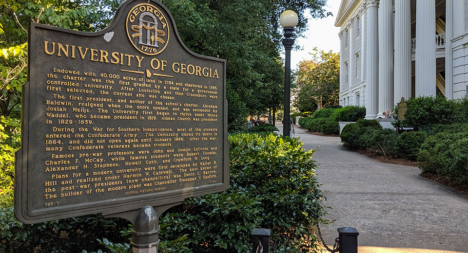 University of Georgia Sign